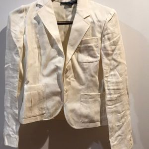 Ralph Lauren white cropped blazer